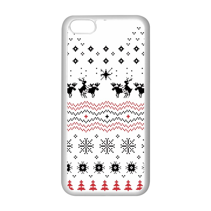 Ugly Christmas Humping Apple iPhone 5C Seamless Case (White)
