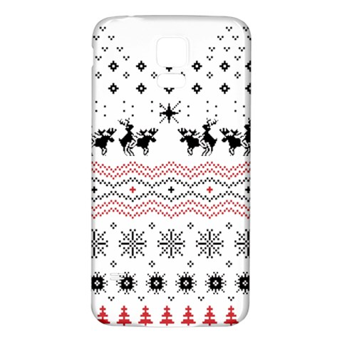 Ugly Christmas Humping Samsung Galaxy S5 Back Case (White)
