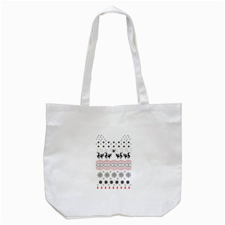 Ugly Christmas Humping Tote Bag (White)