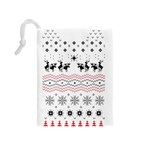 Ugly Christmas Humping Drawstring Pouches (Medium)  Back