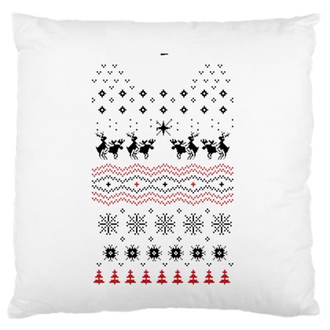 Ugly Christmas Humping Standard Flano Cushion Case (One Side)
