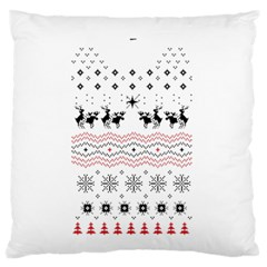 Ugly Christmas Humping Large Flano Cushion Case (one Side)