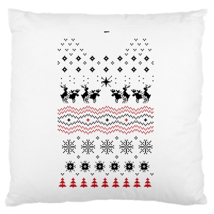 Ugly Christmas Humping Large Flano Cushion Case (Two Sides)