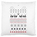 Ugly Christmas Humping Large Flano Cushion Case (Two Sides) Back
