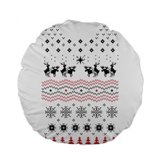Ugly Christmas Humping Standard 15  Premium Flano Round Cushions