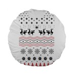 Ugly Christmas Humping Standard 15  Premium Flano Round Cushions Back