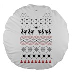Ugly Christmas Humping Large 18  Premium Flano Round Cushions Front