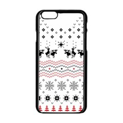 Ugly Christmas Humping Apple iPhone 6/6S Black Enamel Case