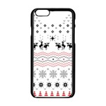 Ugly Christmas Humping Apple iPhone 6/6S Black Enamel Case Front