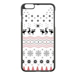 Ugly Christmas Humping Apple iPhone 6 Plus/6S Plus Black Enamel Case Front