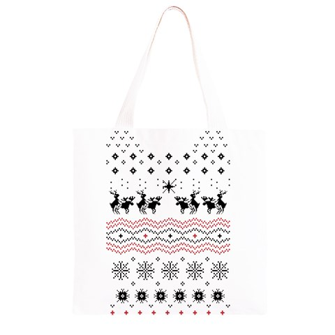 Ugly Christmas Humping Grocery Light Tote Bag