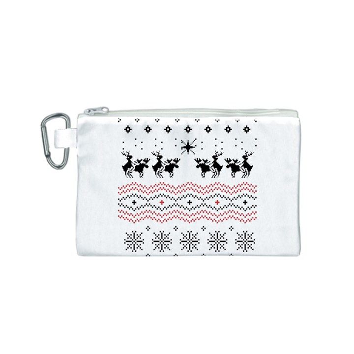 Ugly Christmas Humping Canvas Cosmetic Bag (S)