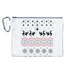 Ugly Christmas Humping Canvas Cosmetic Bag (L)