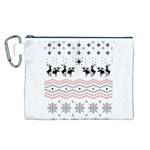 Ugly Christmas Humping Canvas Cosmetic Bag (L) Front