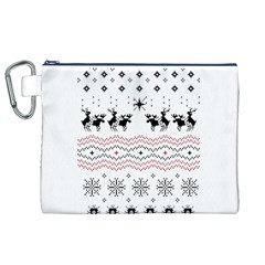 Ugly Christmas Humping Canvas Cosmetic Bag (xl)