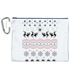 Ugly Christmas Humping Canvas Cosmetic Bag (XL) Front