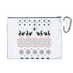 Ugly Christmas Humping Canvas Cosmetic Bag (XL) Back