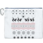 Ugly Christmas Humping Canvas Cosmetic Bag (XXXL) Front