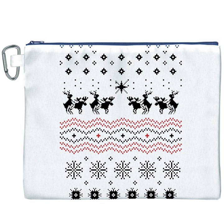 Ugly Christmas Humping Canvas Cosmetic Bag (XXXL)