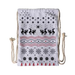 Ugly Christmas Humping Drawstring Bag (Small)