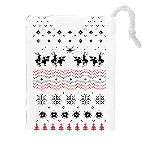 Ugly Christmas Humping Drawstring Pouches (XXL)