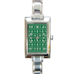 Ugly Christmas Rectangle Italian Charm Watch