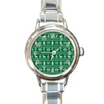Ugly Christmas Round Italian Charm Watch Front