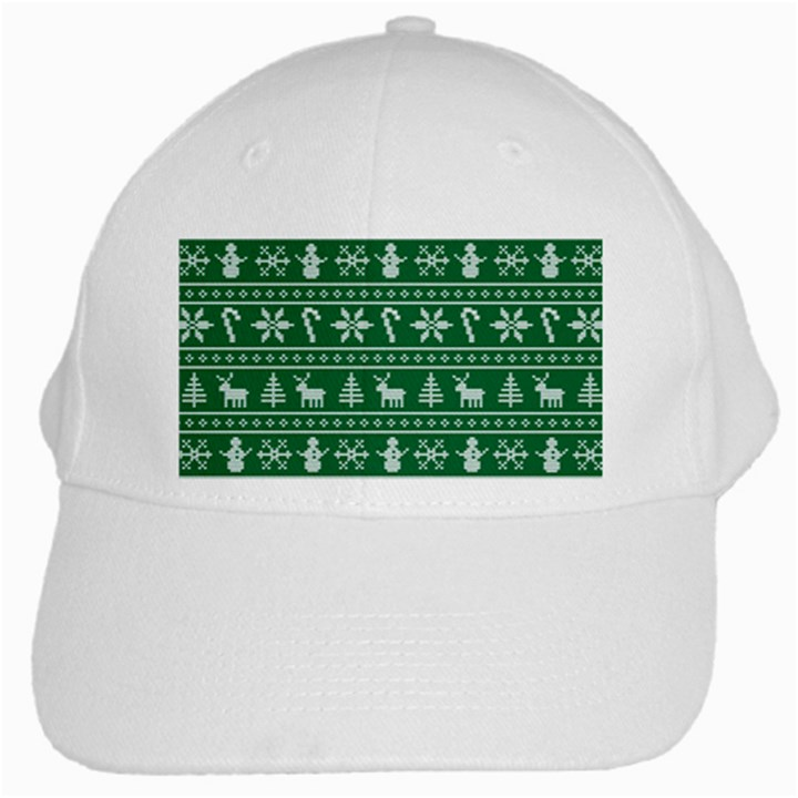 Ugly Christmas White Cap