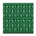 Ugly Christmas Tile Coasters Front