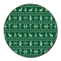 Ugly Christmas Round Mousepads