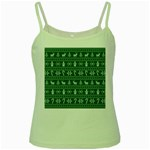 Ugly Christmas Green Spaghetti Tank Front