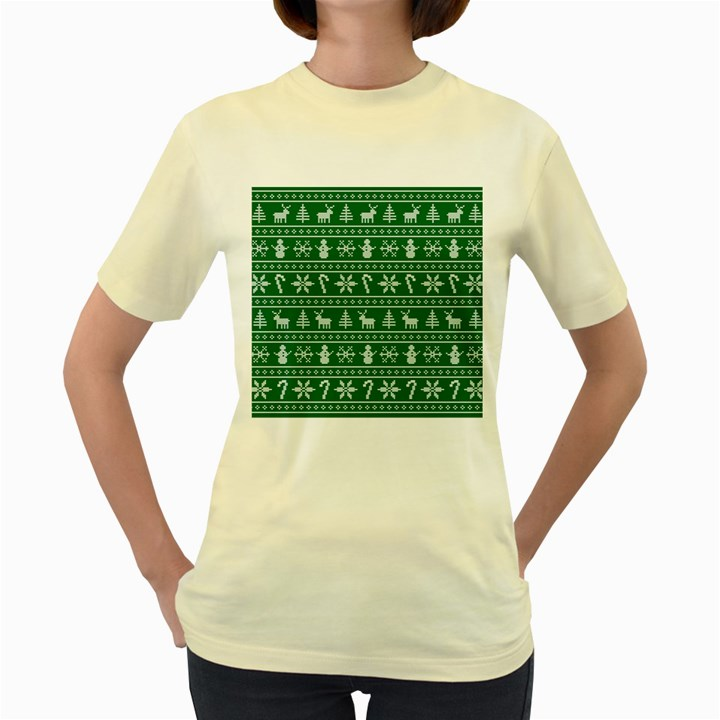 Ugly Christmas Women s Yellow T-Shirt