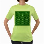 Ugly Christmas Women s Green T-Shirt Front