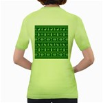 Ugly Christmas Women s Green T-Shirt Back