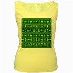 Ugly Christmas Women s Yellow Tank Top Front