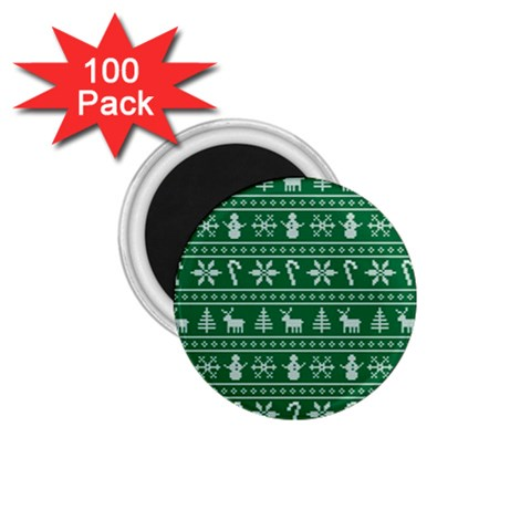 Ugly Christmas 1.75  Magnets (100 pack)