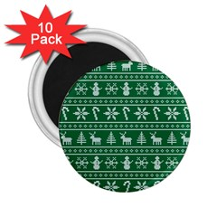 Ugly Christmas 2 25  Magnets (10 Pack)
