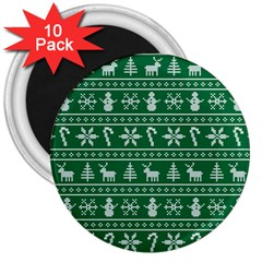 Ugly Christmas 3  Magnets (10 Pack)