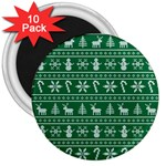 Ugly Christmas 3  Magnets (10 pack)  Front