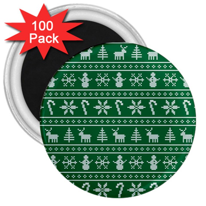 Ugly Christmas 3  Magnets (100 pack)