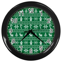 Ugly Christmas Wall Clocks (Black)