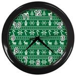 Ugly Christmas Wall Clocks (Black) Front