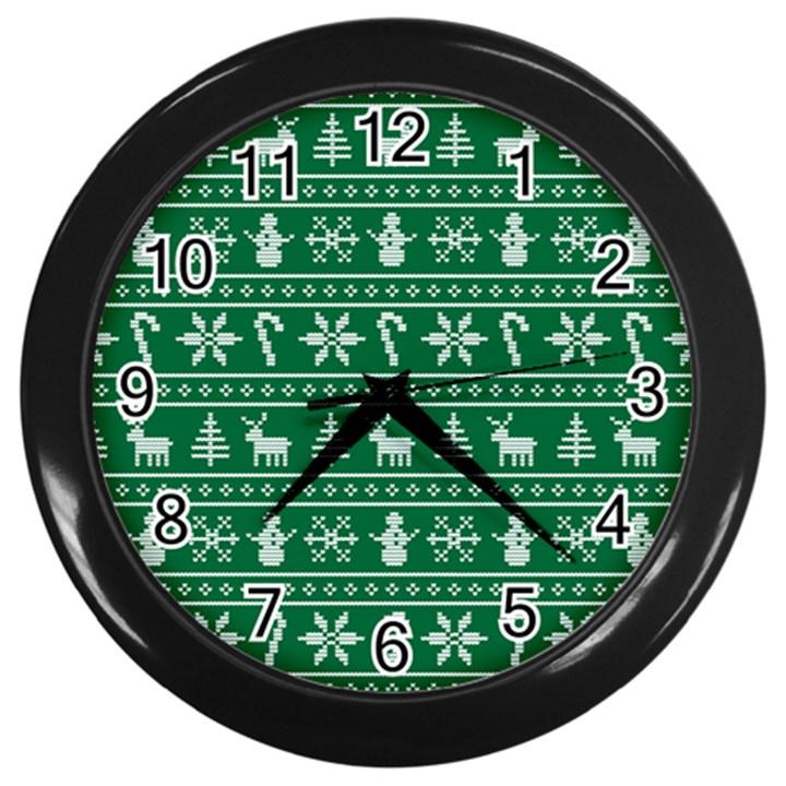 Ugly Christmas Wall Clocks (Black)