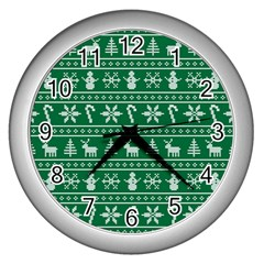 Ugly Christmas Wall Clocks (Silver)