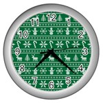 Ugly Christmas Wall Clocks (Silver)  Front