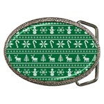 Ugly Christmas Belt Buckles Front