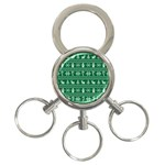 Ugly Christmas 3-Ring Key Chains Front
