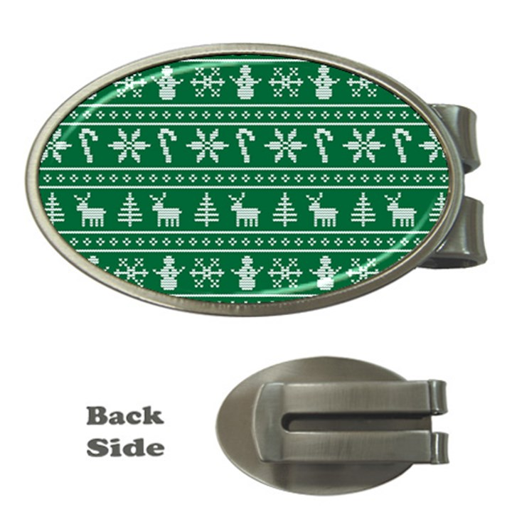 Ugly Christmas Money Clips (Oval)