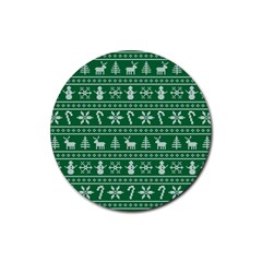 Ugly Christmas Rubber Coaster (round)