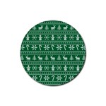 Ugly Christmas Rubber Round Coaster (4 pack)  Front
